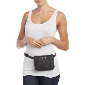 Michael Kors Black MK Monogram Belt Bag